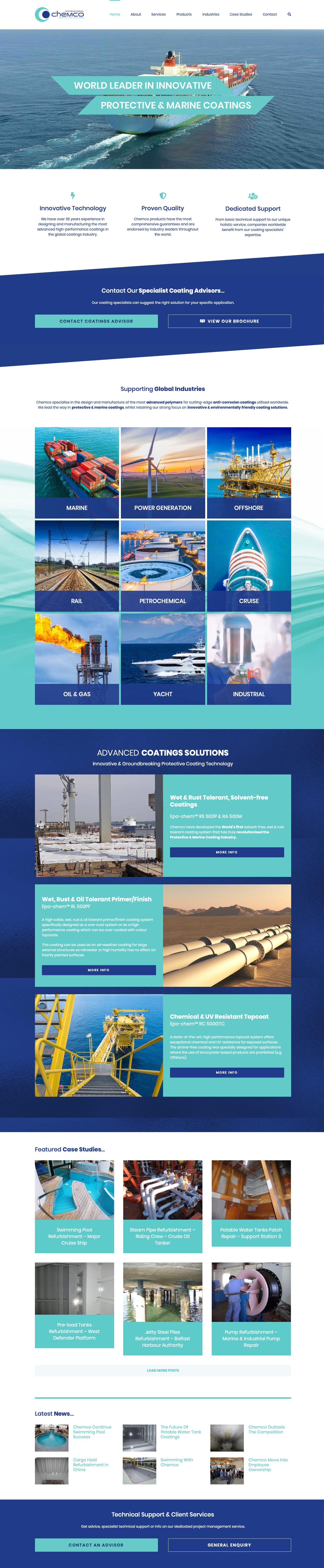 Chemco International Wordpress Website by Freak Design