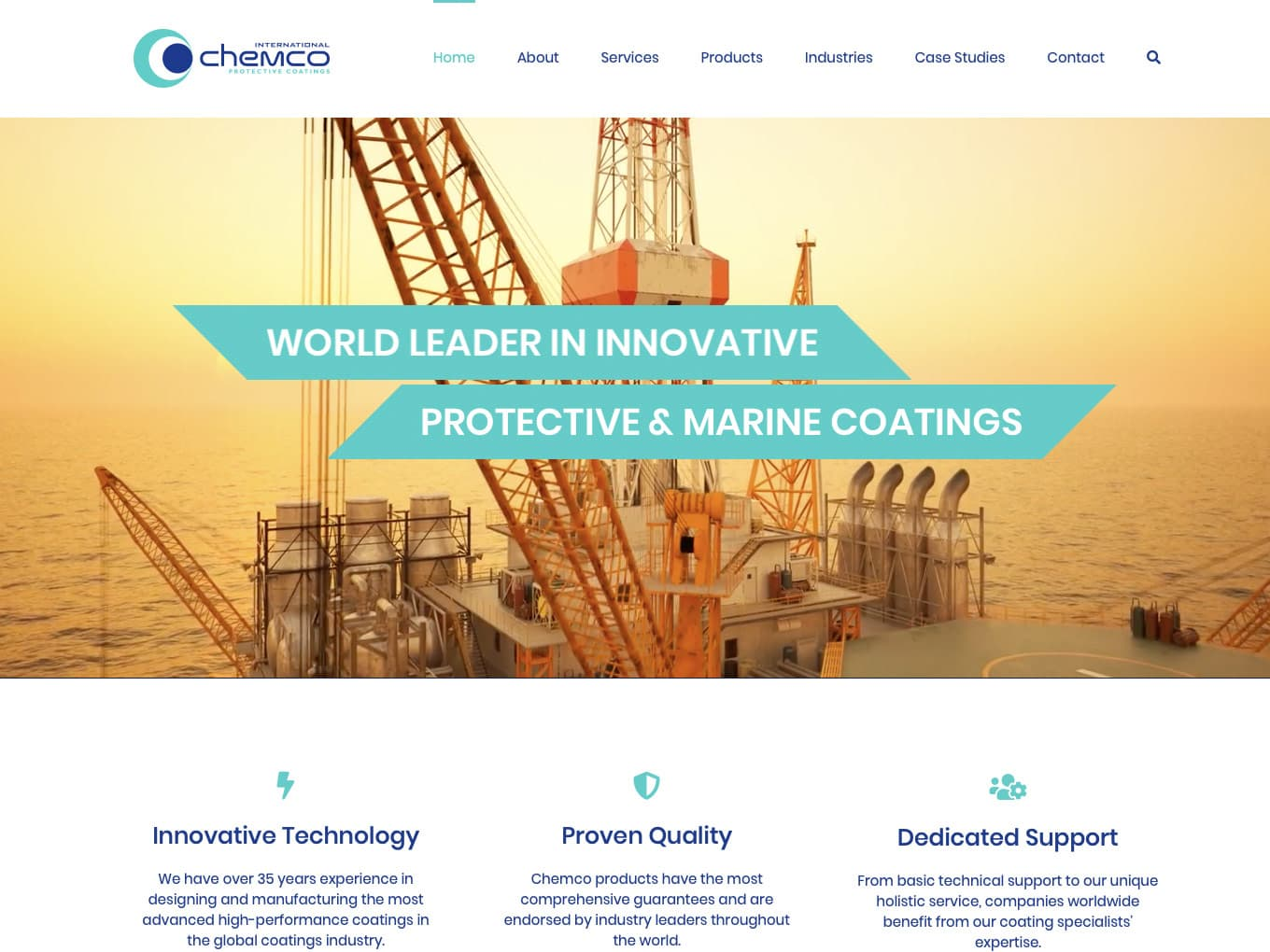 Chemco International website developed by Freak Design