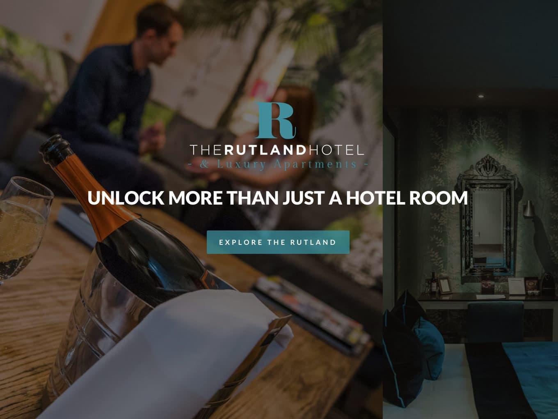 The rutland hotel website design