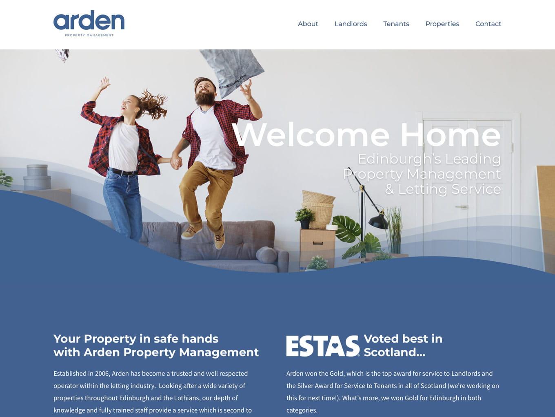 Arden Property Management website design