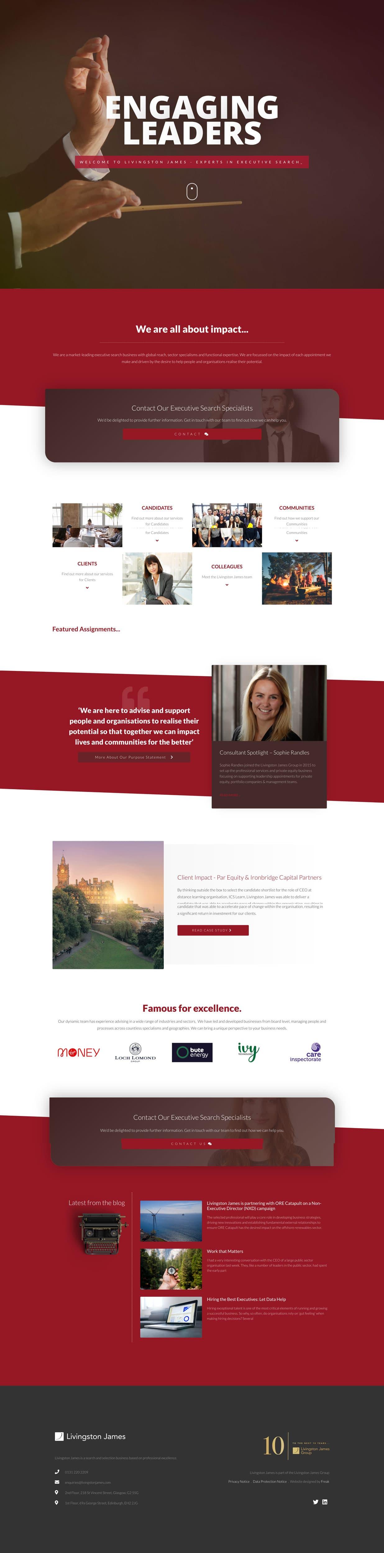 Livingston James Website Design